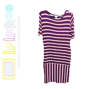Gorgeous LuLaRoe Striped Dress EUC
